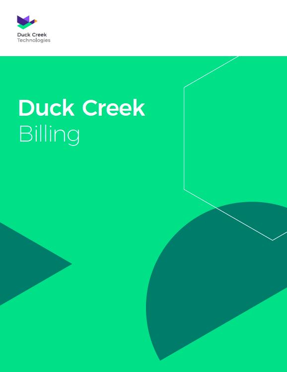 Duck Creek Billing TY Image
